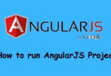 run angularJS project