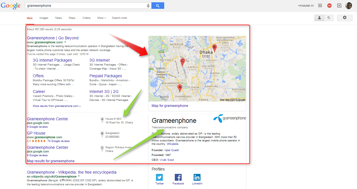 SEO Advice :How to Show Your Business Location on Google Results 1