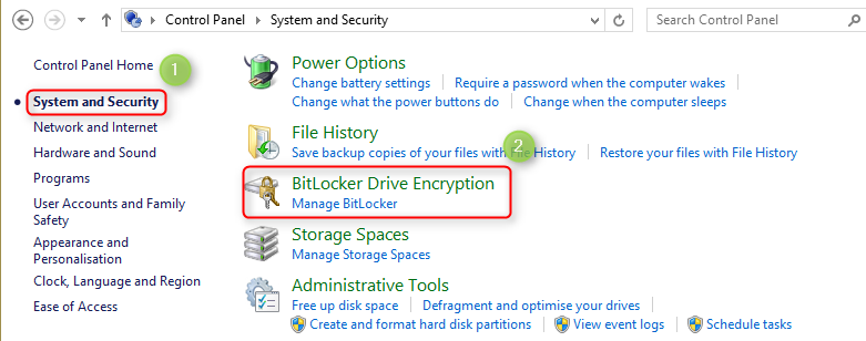 How to set drivers password on Windows