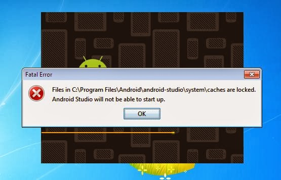 Android-studios System cache are locked