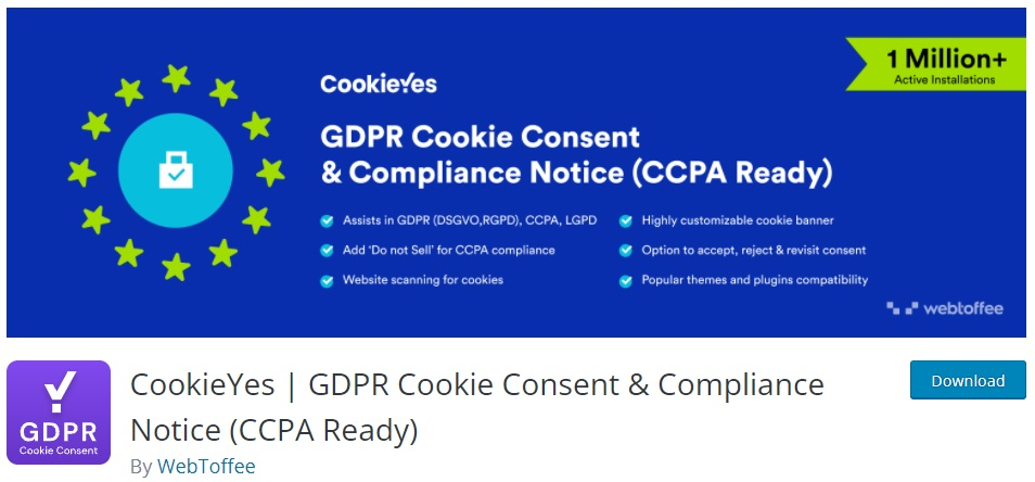 GDPR Cookie Consent & Compliance Notice
